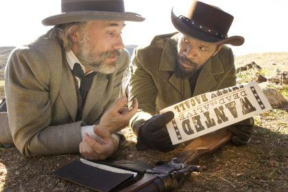 "e83f46414da513 Christoph Waltz (left) and Jamie Foxx in ""Django Unchained,"" written and"