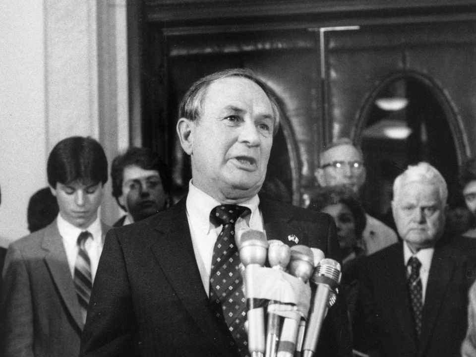 Mr. McGee served as speaker of the House from 1975-1985.
