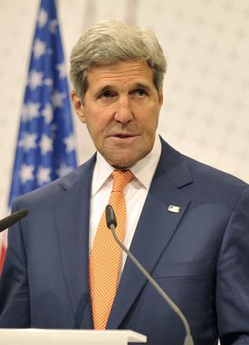 John F. Kerry spoke on five network news programs.