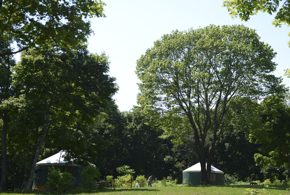 Peddocks Island has new camping yurts that are available to the public for overnight stays.