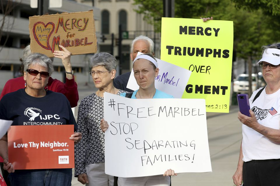 On April 10, 2017, Nuns on the Bus, the Intercommunity Justice and Peace Center (IJPC), and other community members protested in Cincinnati against the deportation of Maribel Trujillo Diaz.