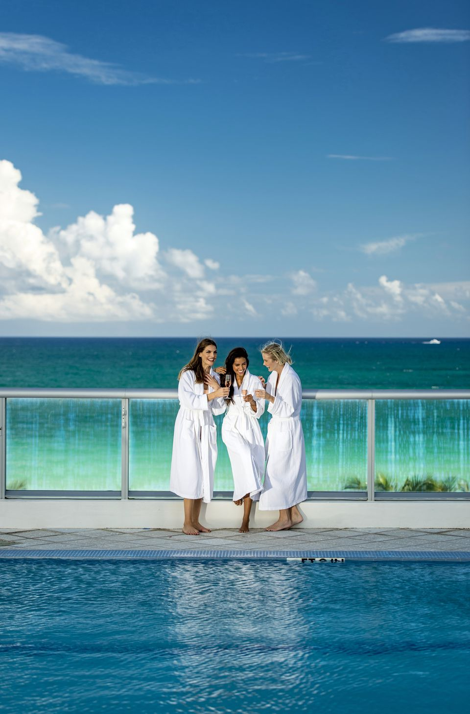 The Carillon Miami Wellness Resort draws bachelorette groups for kombucha facials and other treatments.