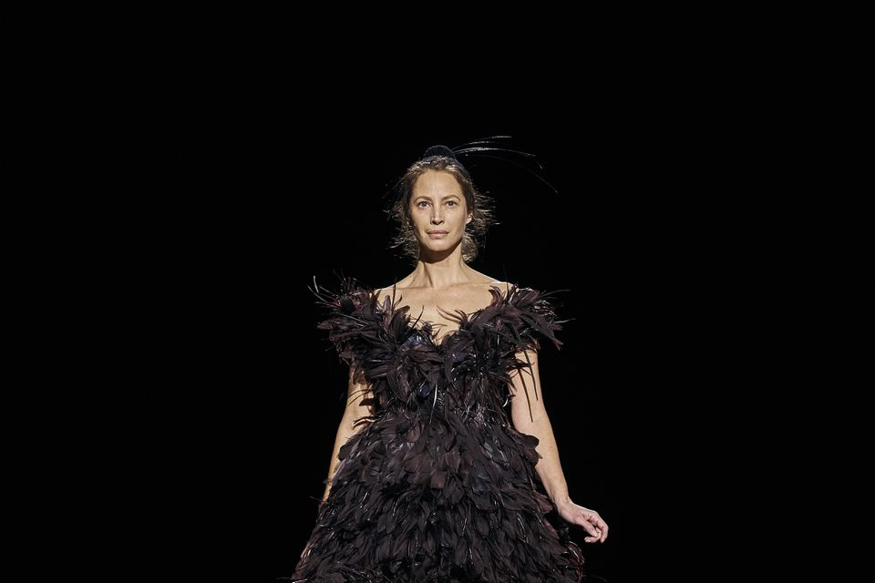 Christy Turlington walked the runway at Marc Jacobs's New York Fashion Week show.