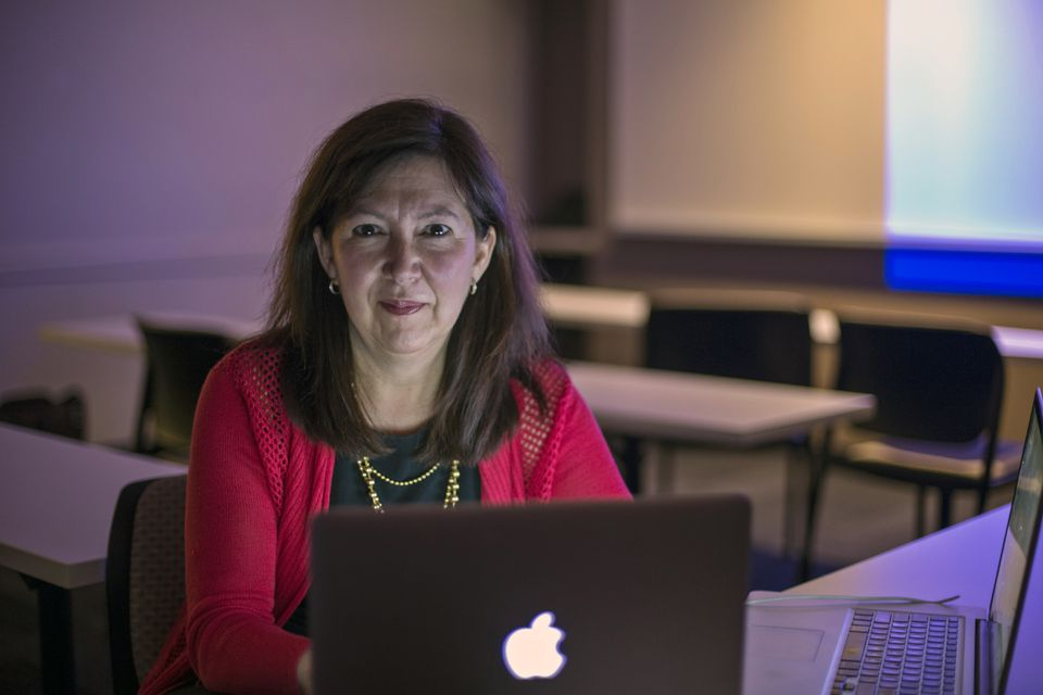Among other changes from her earlier college days, Lisa Carron Shmerling has swapped her typewriter for a laptop.