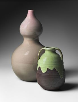 Vases from Newcomb Pottery, circa 1899.