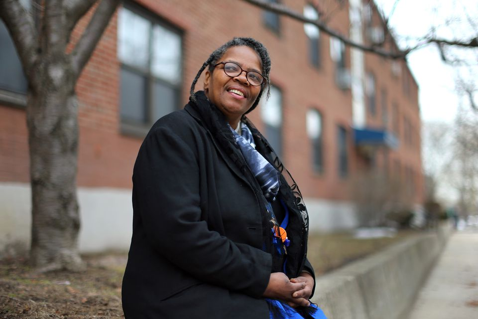 Betty Carrington sees hope in the plan to add market-rate units to the Bunker Hill public housing complex. She leads a tenant task force.