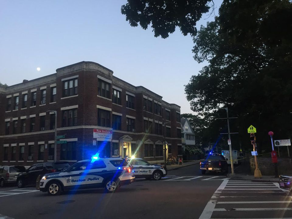 Boston police responded to the scene shortly after 7 p.m.