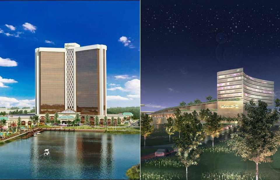 Shown are the proposals for Wynn in Everett and Mohegan in Revere.