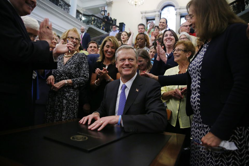 Governor Charlie Baker, a Republican, is the driving force behind the charter school ballot question. The initiative is exposing some divisions in the state Democratic Party.