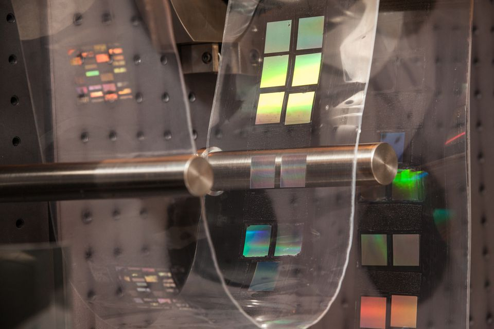 UMass scientists demonstrated a machine that prints nanotechnology used in body sensors to measure stress in military personnel.