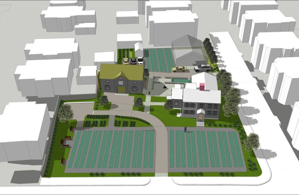 A rendering of what the property will look like after restoration.