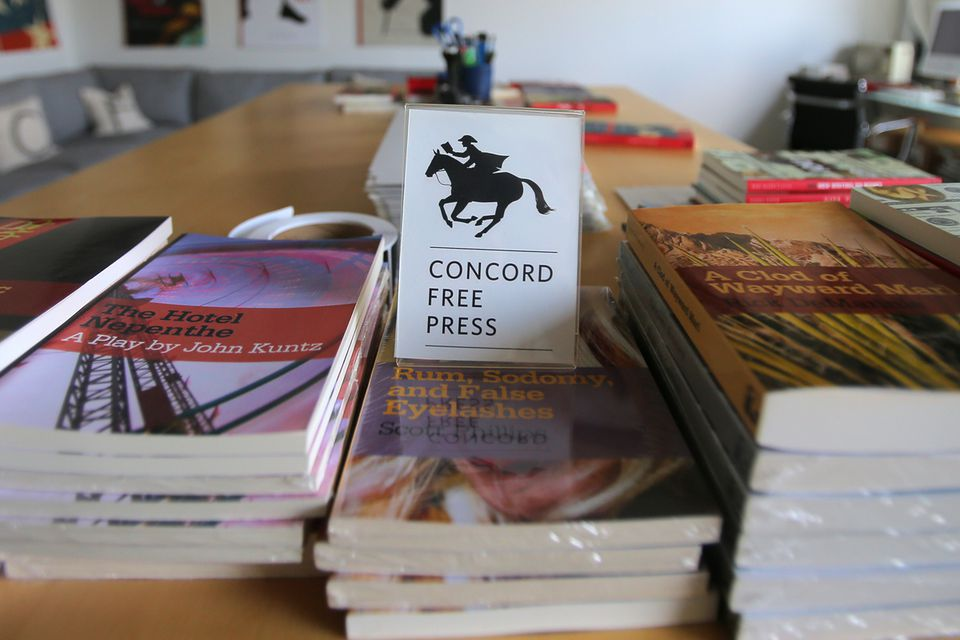 """The <a href=""""http://www.concordfreepress.com/"""">Concord Free Press</a> gives away books for free to readers who will donate to a charity or person in need."""