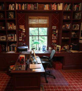 Robert B. Parker's writing desk in Cambridge.