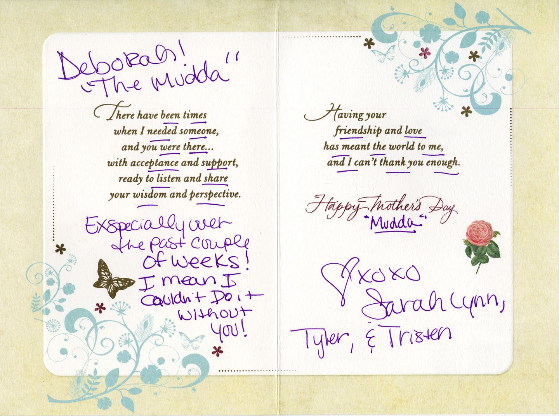 Sarah Estrella gave a Mother's Day card to patient Deborah Lesco around the time Lesco noticed her money was vanishing.
