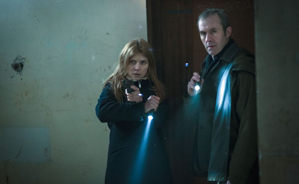 "Clémence Poésy and Stephen Dillane in ""The Tunnel."""