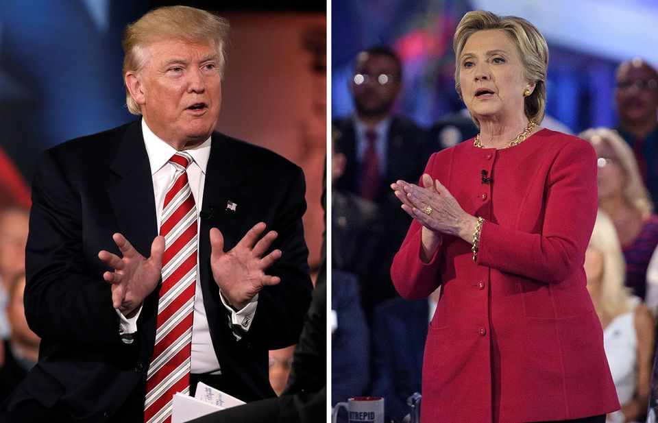 Donald Trump (left) and Hillary Clinton participated in NBC's forum Wednesday night.
