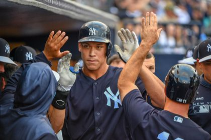 d5afca5722e0 Red Sox outfield has a big fan in Yankees' Aaron Judge - The Boston ...