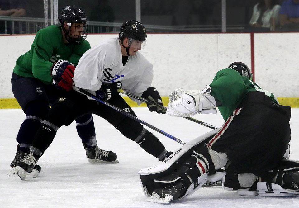 Ryan Donato has been playing in the Foxboro Pro League at Foxboro Sports Center this summer.