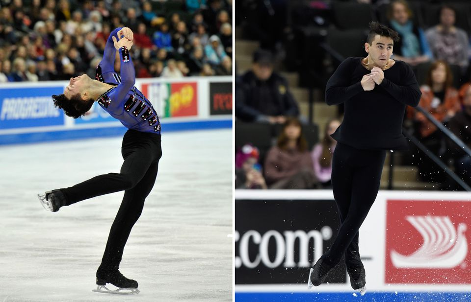 Adam Rippon and Max Aaron.