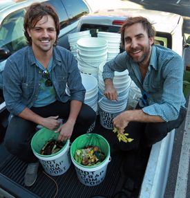 Bootstrap Compost founder Andy Brooks (right), with Igor Kharitonenkov.