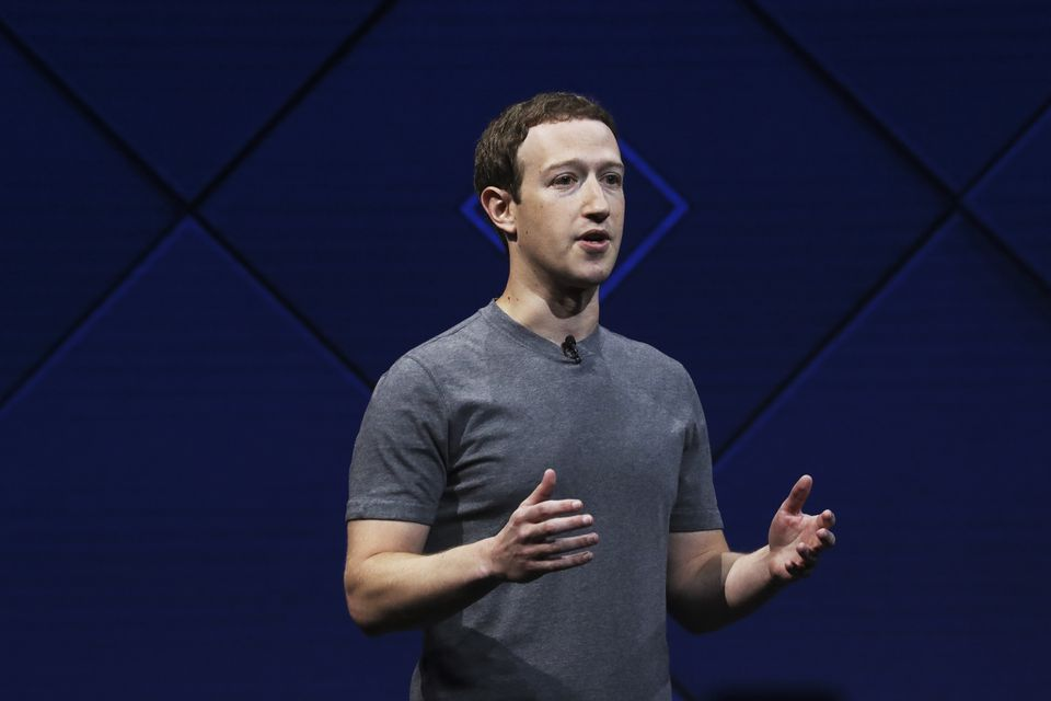 Facebook founder Mark Zuckerberg spole at a conference in San Jose, Calif., in 2017. Cambridge Analytica scraped up Facebook data from more than 50 million people.