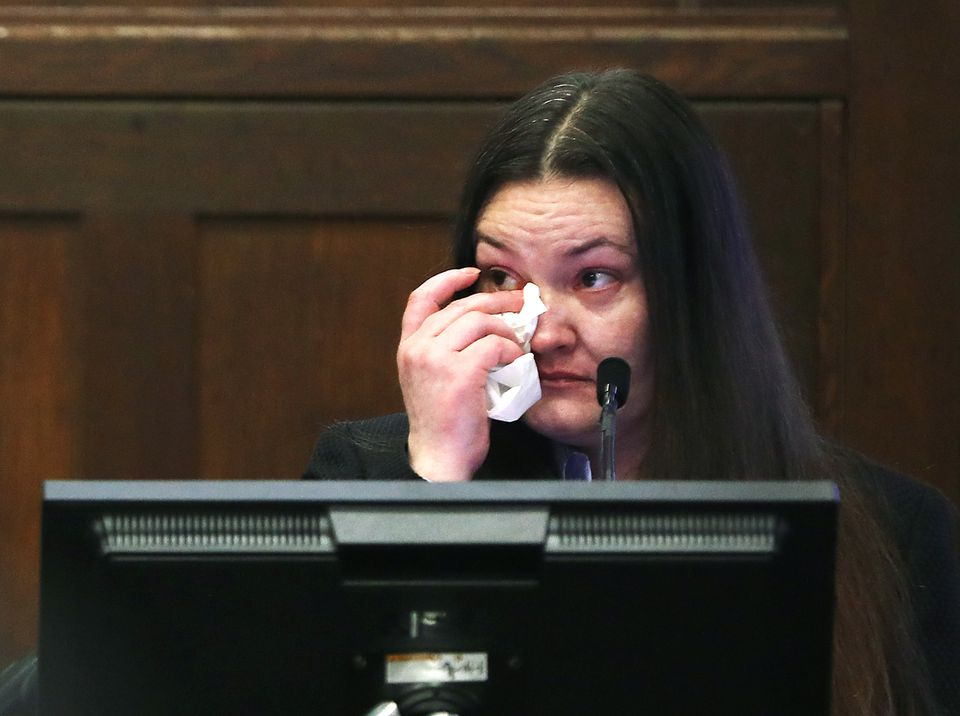 Rachelle Bond wiped away tears June 5 while testifying against her former boyfriend, Michael P. McCarthy. McCarthy was convicted Monday of second-degree murder in the death of Rachelle's daughter, 2-year-old Bella.