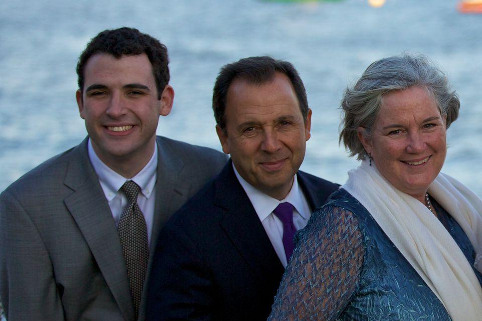 Owen Suskind (left) with his parents, Ron and Cornelia Suskind.