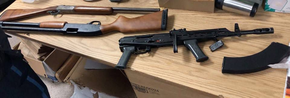 Everett police recovered several firearms from the incident Thursday night.