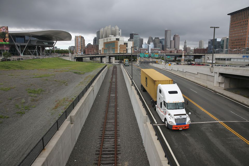 City leaders are offering a new vision for the empty track, affectionately known as Track 61, that runs from the railyards at South Boston's western edge north to the waterfront.
