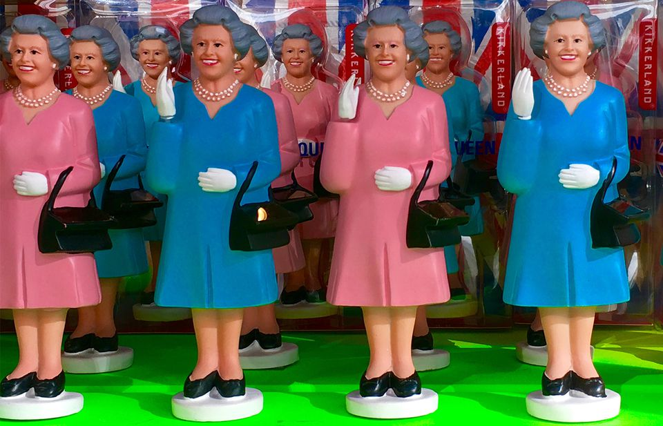 Bargains can be found on waving Queen Mothers and other items.