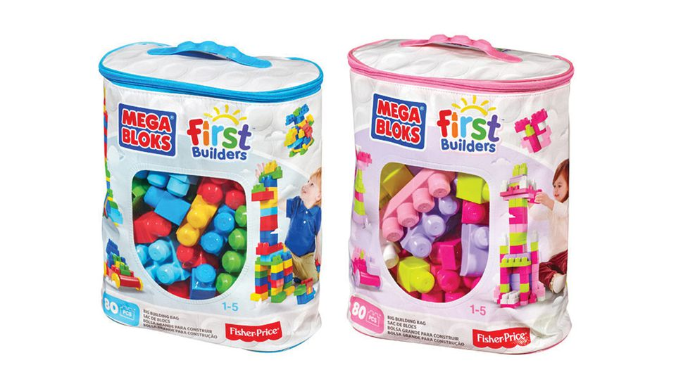"""Traditionally gender-neutral toys like building blocks now come in """"boy"""" and """"girl"""" versions."""