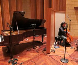 Cellist Zuill Bailey records a piece of music to be included in the latest Zenph ''re-performance'' release