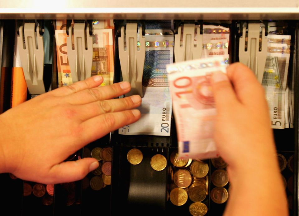 Germans use cash way more than we Americans  do—plunking down euros for a whopping  80 percent of their point-of-sale purchases.