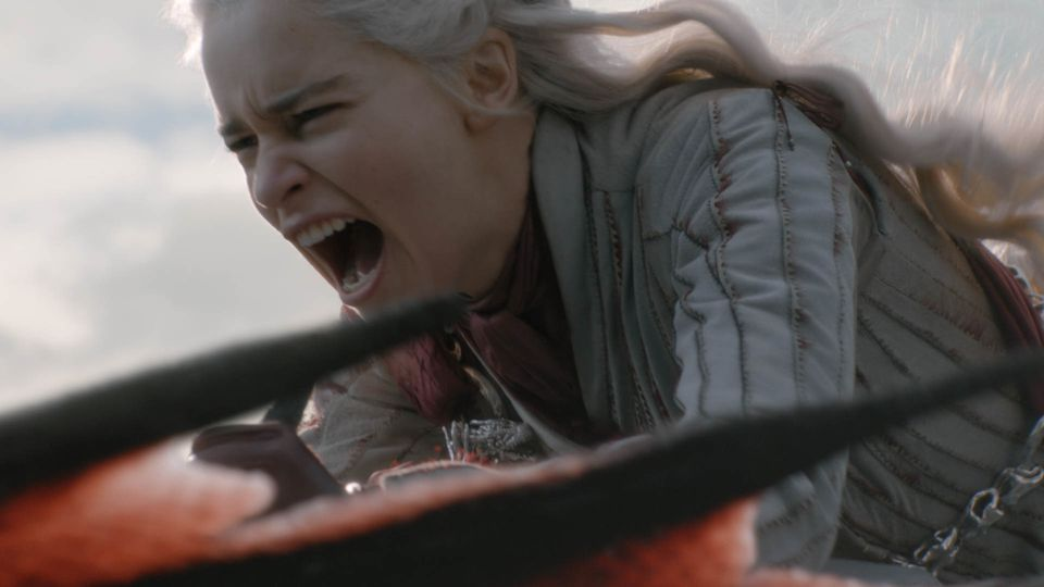 """Daenerys (Emilia Clarke) and Drogon rained fire on King's Landing in the penultimate episode of """"Game of Thrones."""""""