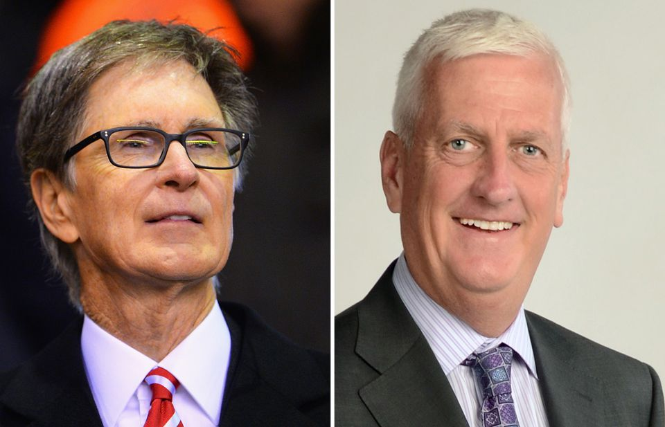John Henry (left) and Mike Sheehan hope to boost ad revenue at the Globe.