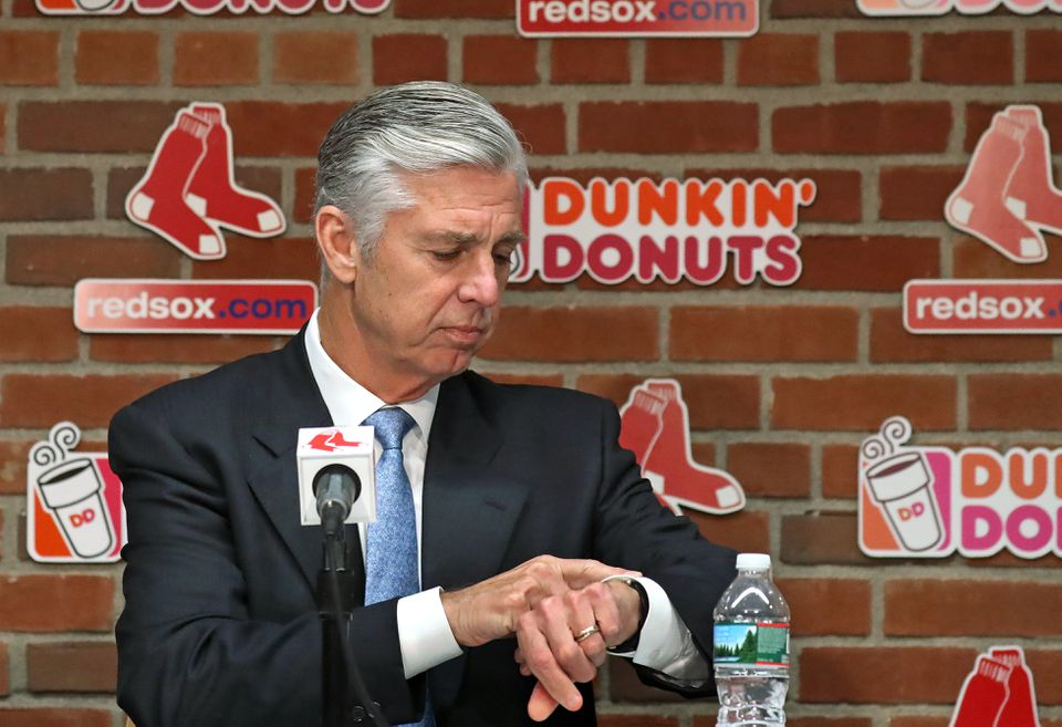 Red Sox president of baseball operations Dave Dombrowski.