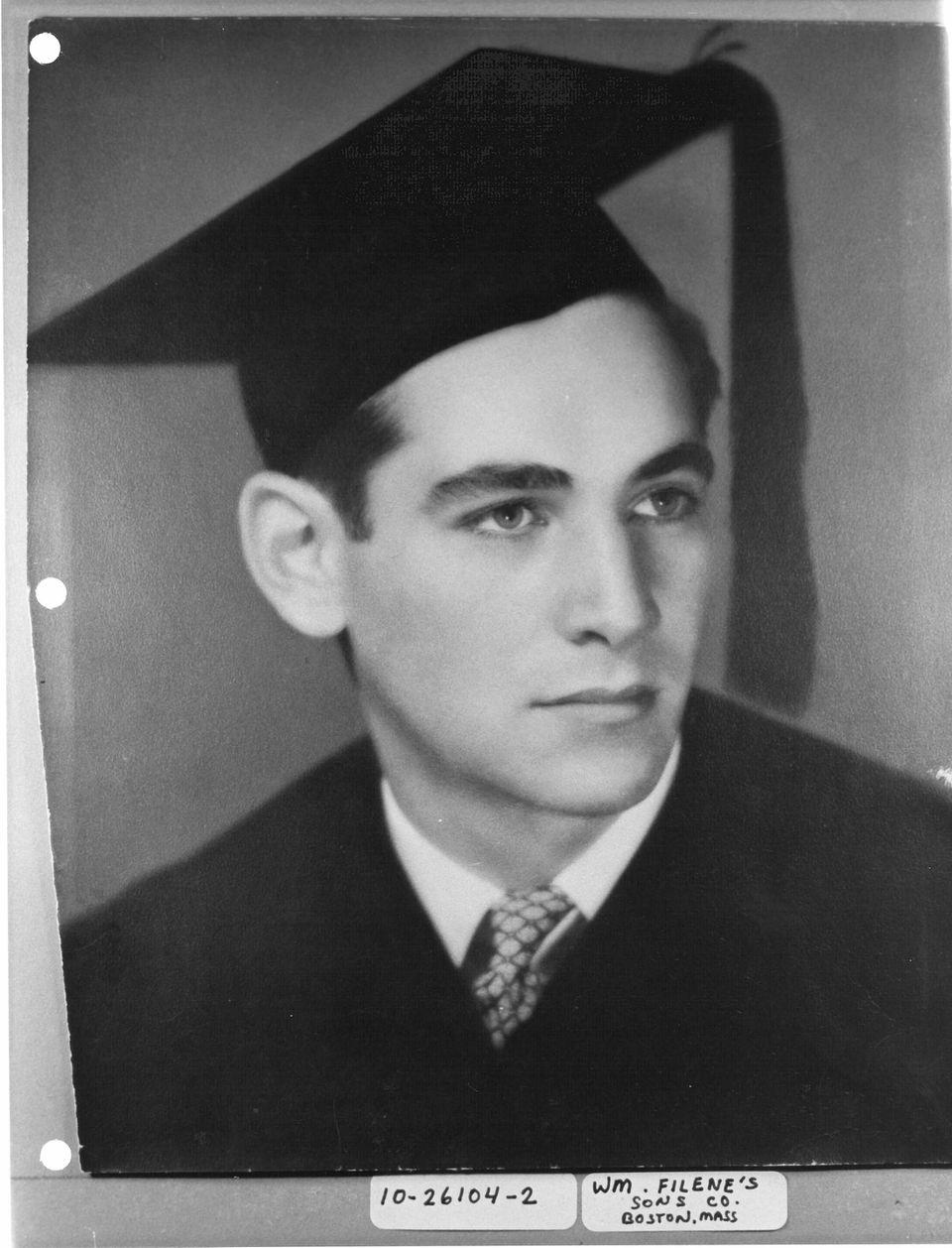 Leonard Bernstein at his Harvard graduation in 1939.