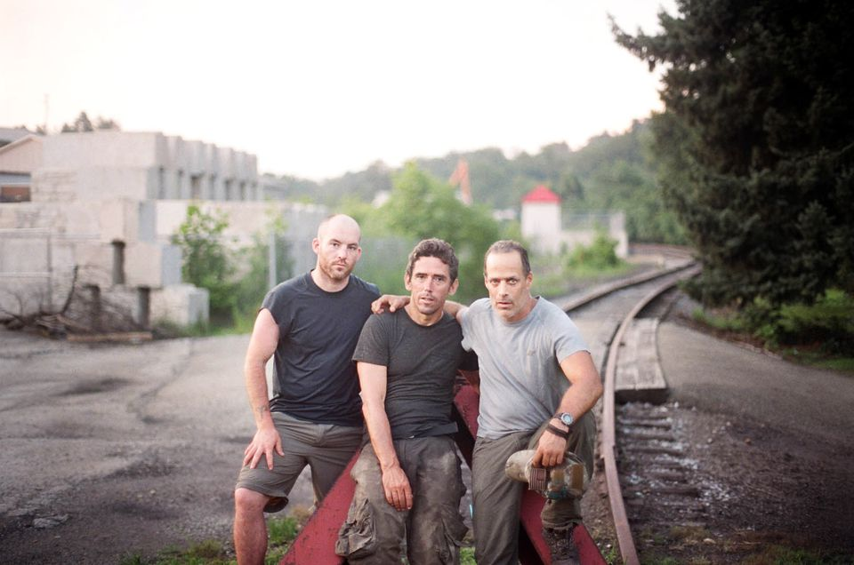 "From left: Brendan O'Byrne, Guillermo Cervera, and Sebastian Junger in ""The Last Patrol."""