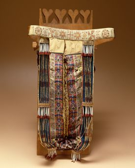 A baby carrier from about 1835 is part of the collection at issue.