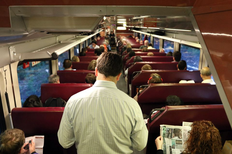 Some passengers have been forced to stand up during rush-hour rides on commuter rail trains.