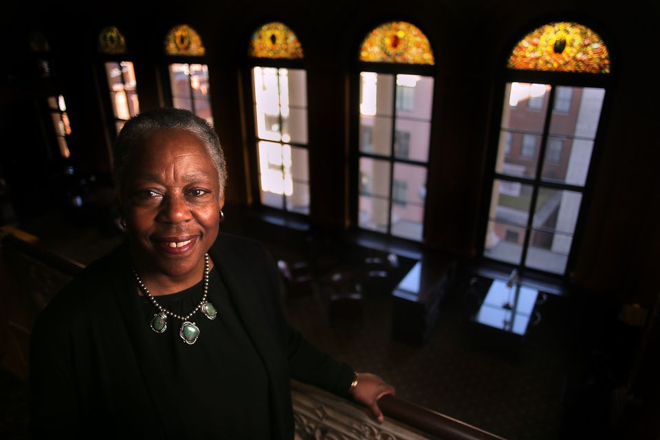 Albie Johnson, the state librarian, spends much of her time surrounded by historic documents.