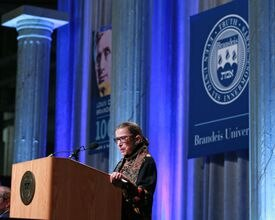 US Supreme Court Justice Ruth Bader Ginsberg was at Brandeis University Thursday night for the Louis D. Brandeis Centennial Celebration.