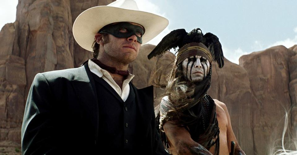 Johnny Depp as Tonto (right) and Armie Hammer as the Lone Ranger.
