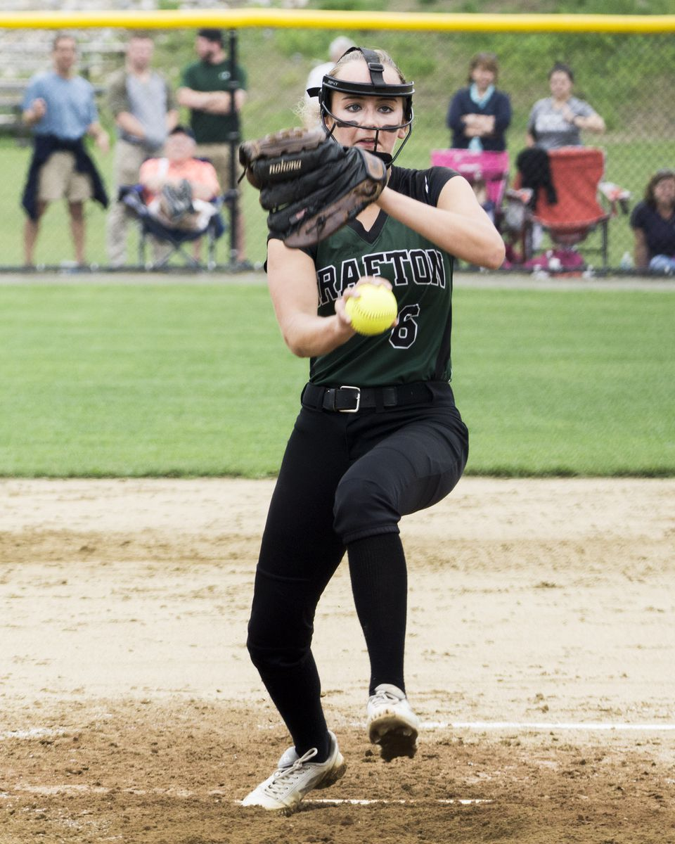 """Grafton High pitcher Savannah Small got """"stronger and stronger as game went on,"""" said coach John Gemme."""