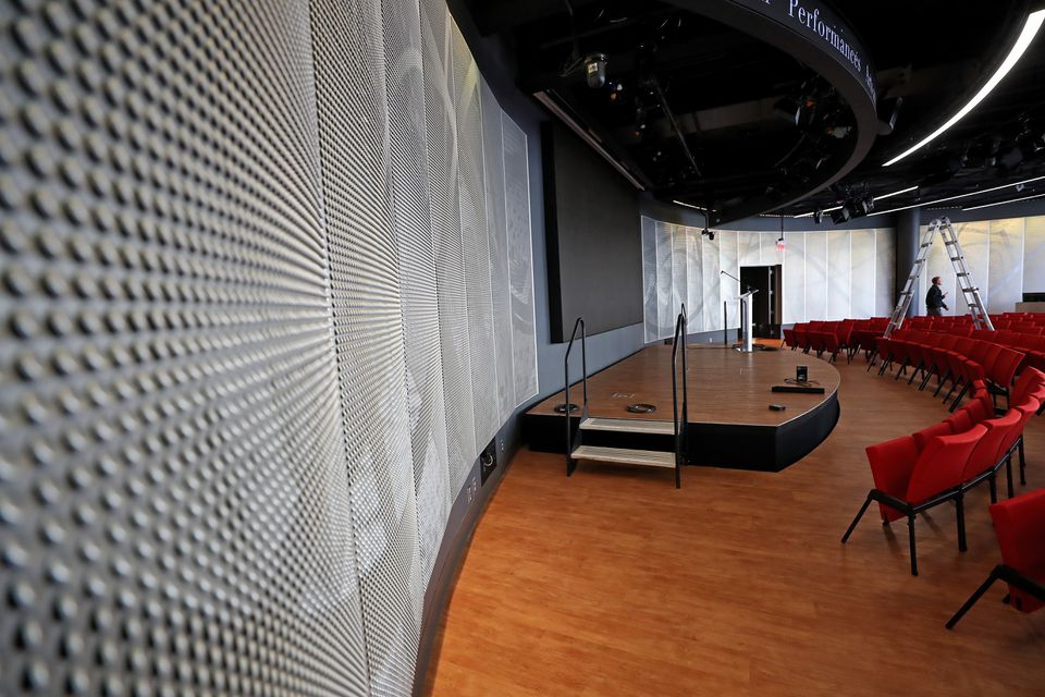 A view of the stage room at CitySpace.