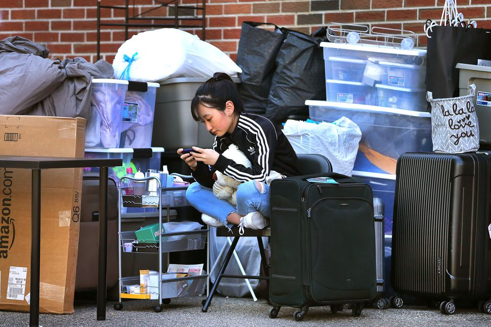 It was move-in day for many college students in Greater Boston on Saturday.