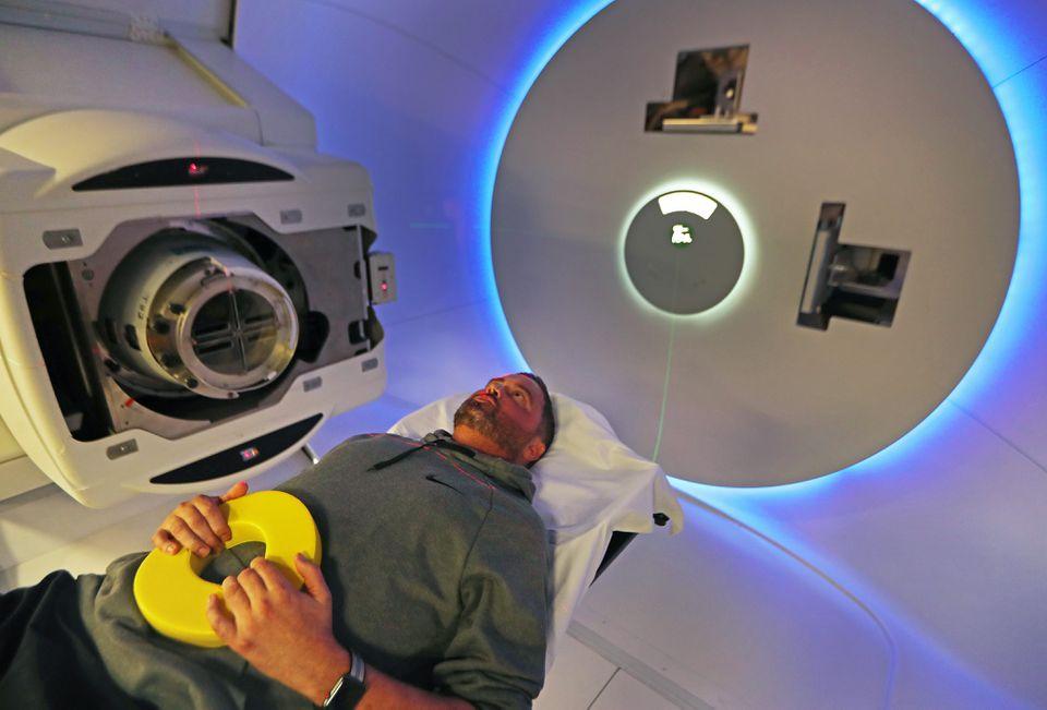 Reece Hammett of Kansas City underwent proton beam therapy at Massachusetts General Hospital.