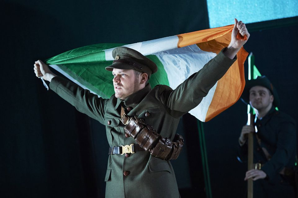 """American Repertory Theater will present a production of """"The Plough and the Stars"""" by Dublin's Abbey Theatre. Pictured: Lloyd Cooney (front) and Liam Heslin."""