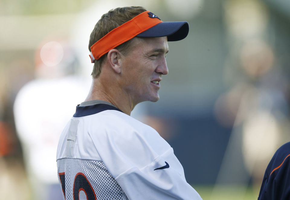 Broncos quarterback Peyton Manning denied a report that he used HGH while recovering from neck surgery in 2011.