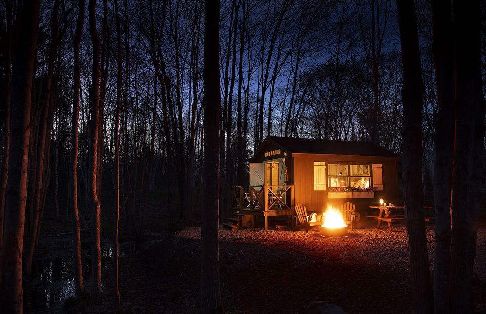 """A """"camp  cottage"""" cabin at Sandy Pines."""